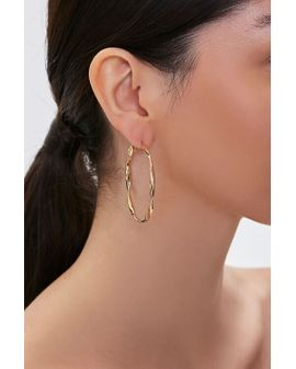Twisted Hoops -  golden