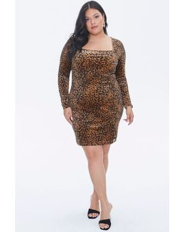 Velvet Leopard mini dress