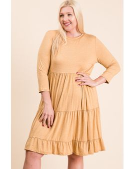 Buttery Soft Midi Dress - Gulur