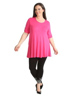 Button Swing top - Hot Pink