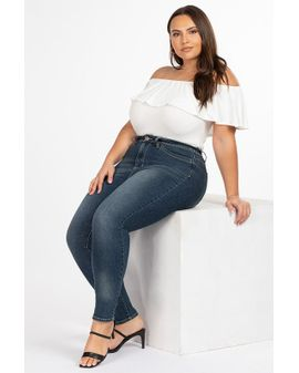 WannaBettaButt Regular Jeans - Blue Denim