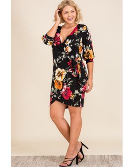 Holiday Wrap dress - SVARTUR