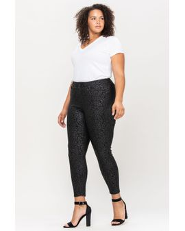 Cello coated pattern pants