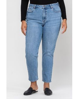 Cello Slim Straight Jeans - Medium denim