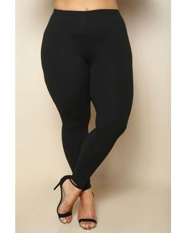 Svartar Soft Leggings