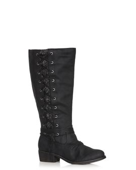 WIDE FIT - Frankie Lace up boots