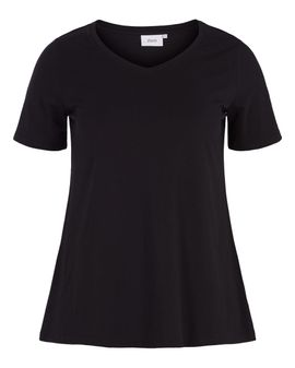ZIZZI Basis T-shirt - Svartur