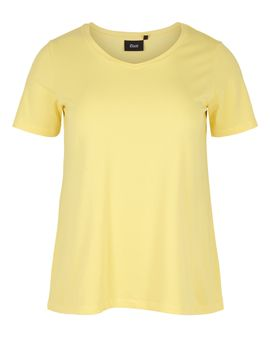 ZIZZI Basis T-shirt - LEMON
