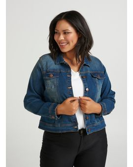 Zizzi Basic Blue Denim jakki
