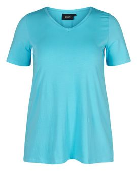 ZIZZI Basis T-shirt - River blue