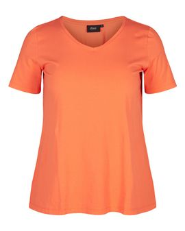 ZIZZI Basis T-shirt - CORAL
