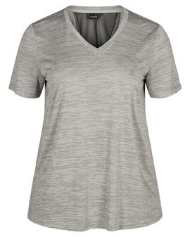 ZIZZI ACTIVE Grey melange top