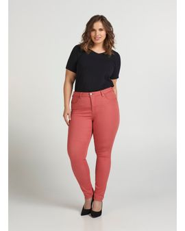 Zizzi Amy Long Color Jeans - DUSTY Pink