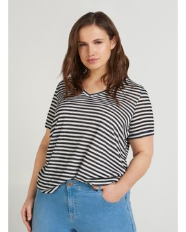 ZIZZI Mea Stripe top