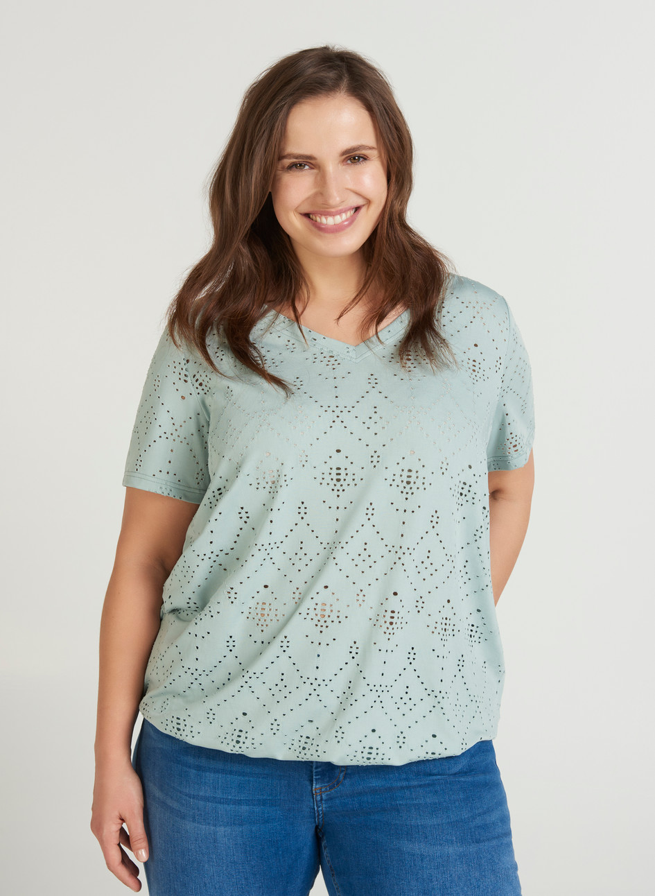 ZIZZI Stephanie Top - Mint