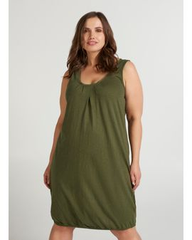 ZIZZI LOA DRESS - IVY GREEN