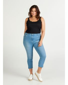 Amy Cropped Summer blue jeans