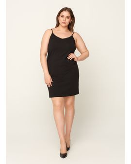 Zizzi Strap Dress - Svartur