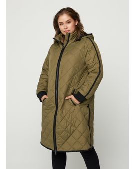 ZIZZI Fiu Coat - Gray Green
