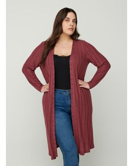 ZIZZI LUNA Cardigan - Ginger red