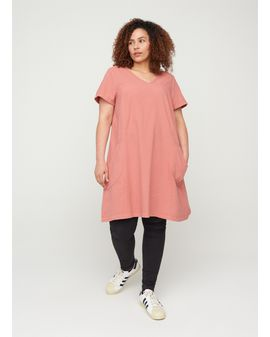 ZIZZI Easy A-shape Kjóll - ROSE