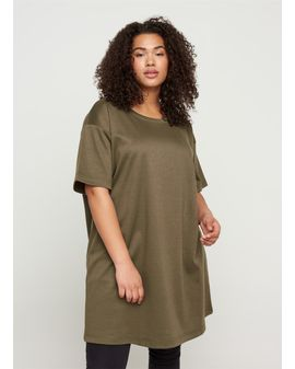 Zizzi sweater Tunic - Ivy GREEN