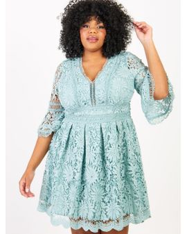 Lovedrobe LUX Lace Aqua Dress