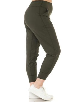 Active Joggers - Olive Green