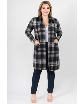 Grey Check soft peysa