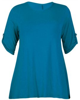 Button Swing top - Teal blue
