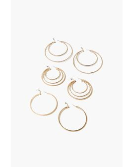 Twisted Hoop set of 3 - Gold
