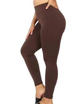 Zena  fleece leggings - Chocolate