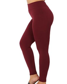 Zena  fleece leggings - WINE