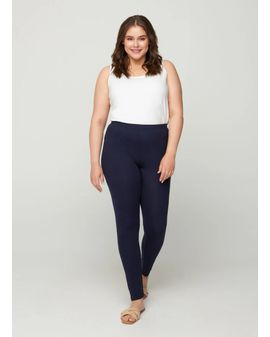 ZIZZI Viscose Leggings - Navy bláar