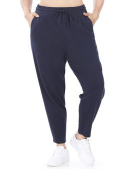 Cotton Joggingbuxur - NAVY blá