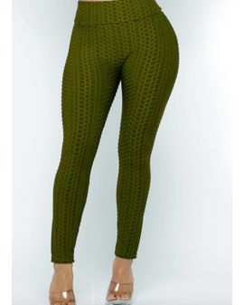 Texture Leggings - OLIVE Green