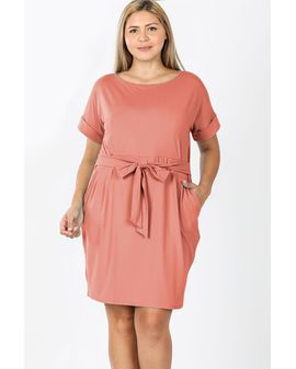 Soft Pocket Dress - ROSE