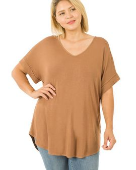 Rayon relax toppur - Camel