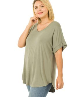 Rayon relax toppur - Olive