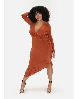 Pinkc Rust Bodycon dress