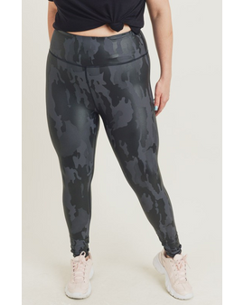 Mono Camo Print leggings