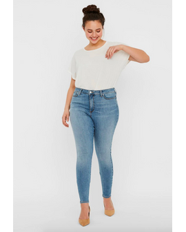 VM CURVE Sophia Gallabuxur - Light Blue Denim