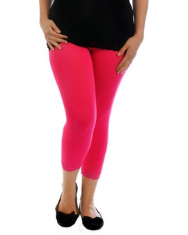 Nouvell Blúndu kvartleggings - Hot PINK
