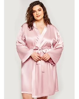 Satin look Sloppur - Rose bleikur
