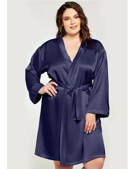Satin look Sloppur - NAVY blár