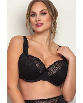 Sofia Padded Push UP Bra - SVARTUR