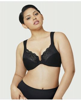 Glamorize Front Close bra - svartur