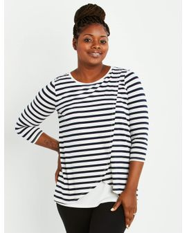 Mama Stripe Nursing top