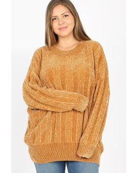 Velvet Cable knit - Mustard Yellow