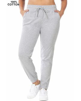 Cotton Joggers - Heather Gray
